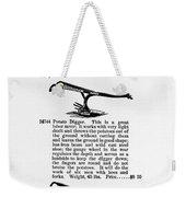 Plow Advertisement, C1890 Weekender Tote Bag