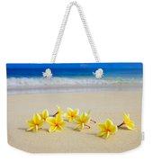 Plumerias On Beach II Weekender Tote Bag