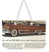 Plymouth De Soto 1953 Weekender Tote Bag