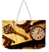 Pocket Watches And Old Keys Weekender Tote Bag