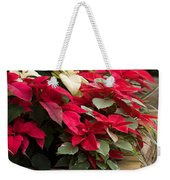 Poinsettia Garden Weekender Tote Bag