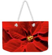 Poinsettia Red Christmas Flower Abstract Artwork Weekender Tote Bag