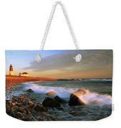 Point Judith Lighthouse Seascape Weekender Tote Bag