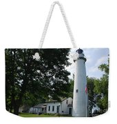 Pointe Aux Barqes Lighthouse Weekender Tote Bag