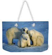 Polar Bear With Cubs Weekender Tote Bag