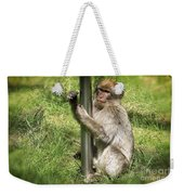 Pole Dancing Macaque Style Weekender Tote Bag