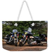 Police Motorcycles Weekender Tote Bag by Paul Ward