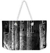 Pompeii Columns Black And White Weekender Tote Bag