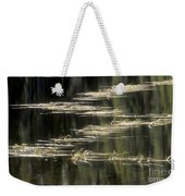 Pond And Grass Abstract Weekender Tote Bag