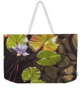Pond Flower Weekender Tote Bag