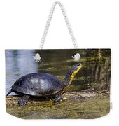 Pond Turtle Basking In The Sun Weekender Tote Bag