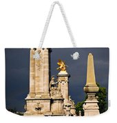 Pont Alexander IIi In Paris Before Storm Weekender Tote Bag