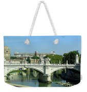 Ponte Sant'angelo In Rome Weekender Tote Bag
