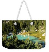 Pool In The Forest Weekender Tote Bag