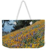 Poppies And Lupine Flowers Blanket Weekender Tote Bag