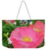 Poppies And Pollinator Weekender Tote Bag