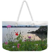 Poppies By The River Weekender Tote Bag