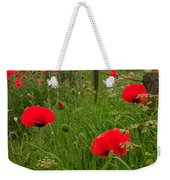 Poppies By The Roadside In Northumberland Weekender Tote Bag