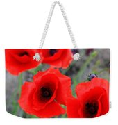 Poppies Of Stone Weekender Tote Bag by Empty Wall