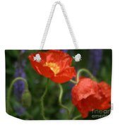 Poppies With Impressionist Effect Weekender Tote Bag
