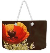 Poppy And Lace Weekender Tote Bag