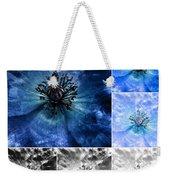 Poppy Blue - Macro Flowers Fine Art Photography Weekender Tote Bag