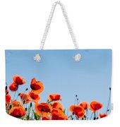Poppy Flowers 01 Weekender Tote Bag by Nailia Schwarz