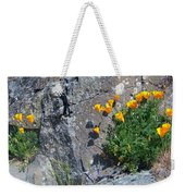 Poppy On The Rocks Weekender Tote Bag