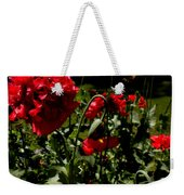 Poppy Pompom Weekender Tote Bag