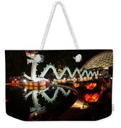 Porcelain Dragon Weekender Tote Bag by Semmick Photo