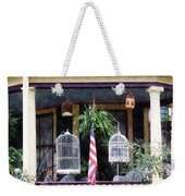Porch With Bird Cages Weekender Tote Bag