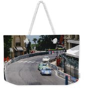 Porsches At Monte Carlo Casino Square Weekender Tote Bag by John Bowers