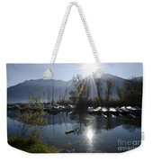 Port In Backlight Weekender Tote Bag
