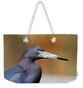 Portait Of A Little Blue Heron Weekender Tote Bag
