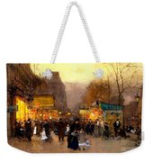 Porte St Martin At Christmas Time In Paris Weekender Tote Bag