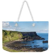 Portnaboe Bay At Giants Causeway Weekender Tote Bag
