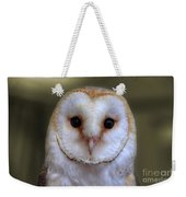 Portrait Of A Barn Owl Weekender Tote Bag