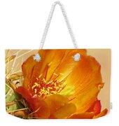 Portrait Of A Cactus Flower Weekender Tote Bag
