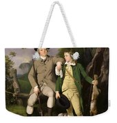 Portrait Of A Sportsman With His Son Weekender Tote Bag