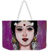 Portrait Of An Indian Woman Weekender Tote Bag