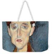 Portrait Of Franz Hellens Weekender Tote Bag by Modigliani