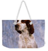 Portrait Of Irish Red And White Setter Weekender Tote Bag