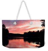Portrait Of Lake Waukewan Weekender Tote Bag
