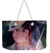 Portrait Of Lise Weekender Tote Bag