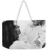 Portrait Of Mother And Daughter Weekender Tote Bag