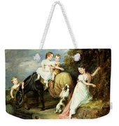 Portraits Of The Children Of The Rev. Joseph Arkwright Of Mark Hall Essex Weekender Tote Bag