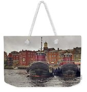 Portsmouth Tugs Weekender Tote Bag by Joann Vitali