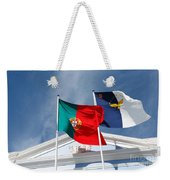 Portugal And Azores Flags Weekender Tote Bag