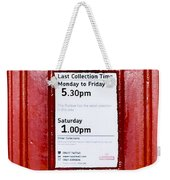 Post Box Weekender Tote Bag
