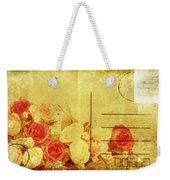 Postcard With Floral Pattern Weekender Tote Bag